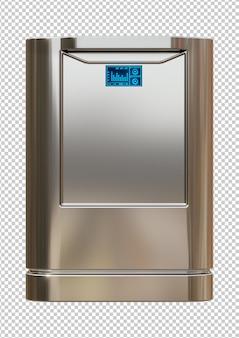 Moderne intelligente spülmaschine aus gebürstetem stahl isoliert