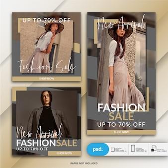 Moderne mode-web-fahnen-social media-schablone