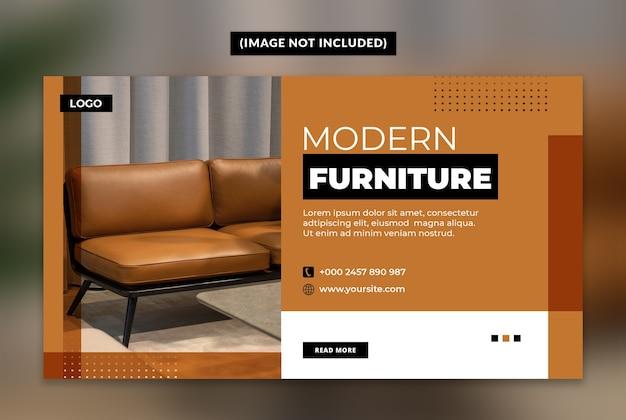 Moderne möbel web banner vorlage
