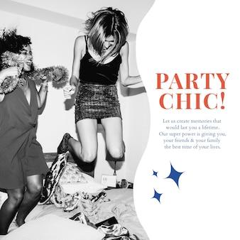 Moderne party-marketing-vorlage psd social media-anzeige für organisatoren