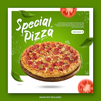 Moderne pizza instagram post vorlage