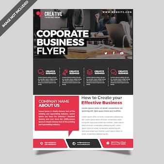 Moderne professionelle großunternehmen flyer vorlage