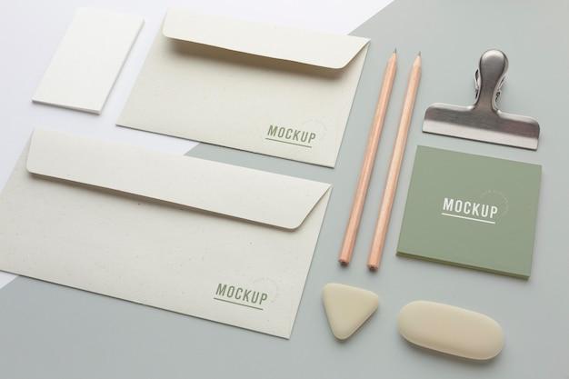 Moderne schreibwaren-mock-up-komposition