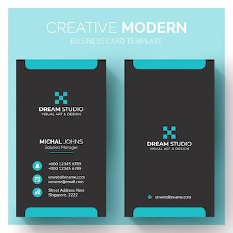 Moderne schwarze visitenkarte