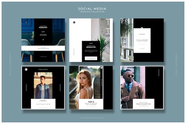 Moderne social media-vorlagen für photoshop