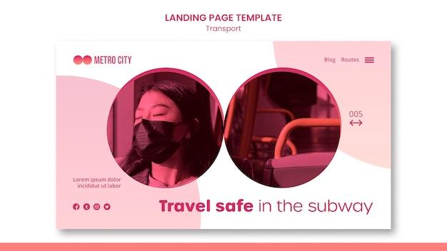 Moderne transport-webvorlage