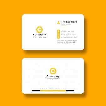 Moderne und saubere visitenkartenvorlage