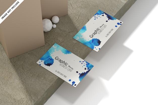 Moderne visitenkarte mit abstrakten hintergrundformen