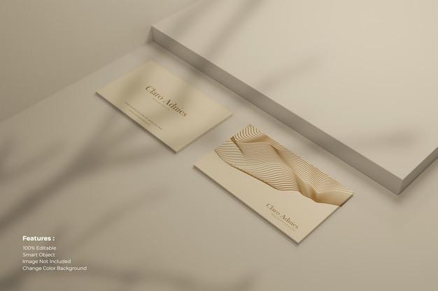 Moderne visitenkarte mit schatten