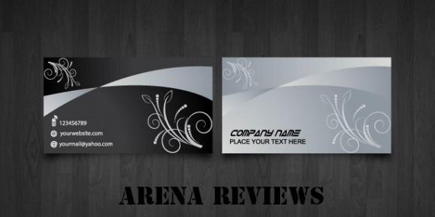Moderne visitenkarte vorlage in schwarz und grau