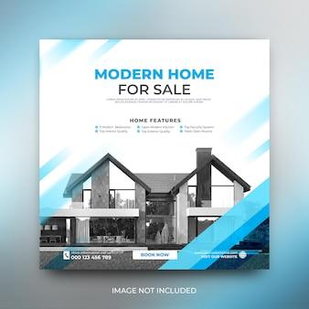 Moderne vorlage für social media-posts zur verkaufsförderung von eigenheimen