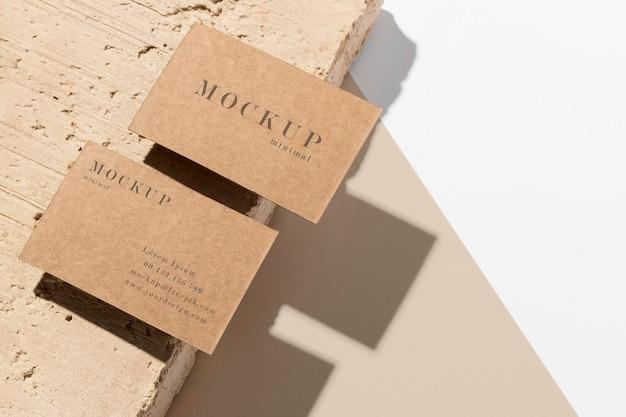 Moderne zusammensetzung der mock-up-visitenkarte