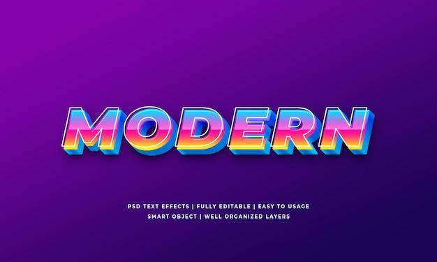 Moderner arteffekt des textes 3d