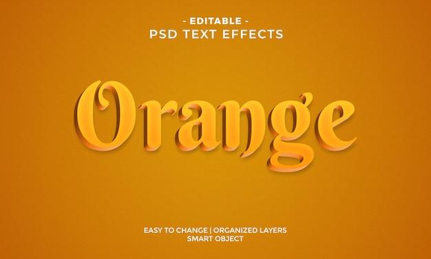 Moderner bunter orange effekt des textes 3d