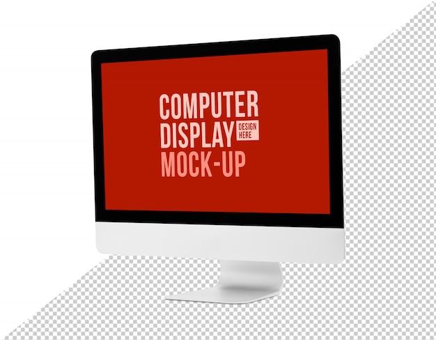 Moderner computer-desktop mit bildschirmmodellvorlage