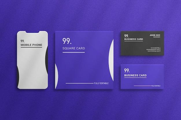 Moderner corporate identity-szenen-ersteller und briefpapier-modell m