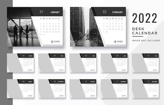 Moderner dunkler kalender 2022 druckfertige vorlage