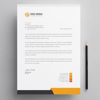 Moderner firmenbriefkopf