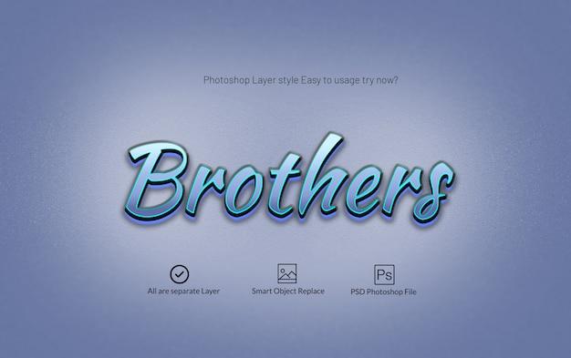 Moderner glatter photoshop-text-effekt