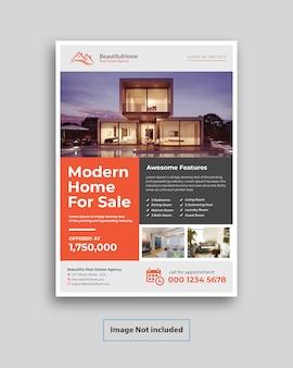 Moderner immobilien-flyer