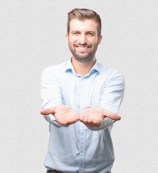 Moderner mann, der ihr konzept darstellt