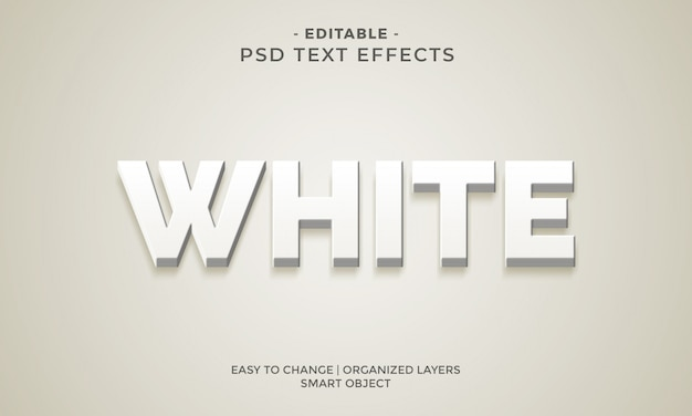 Moderner sauberer weißer texteffekt