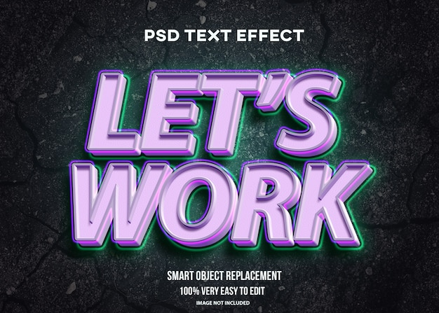 Moderner stark leuchtender texteffekt