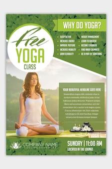 Moderner yoga-flyer