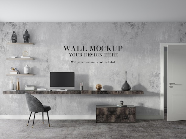 Modernes arbeitszimmer wandmodell