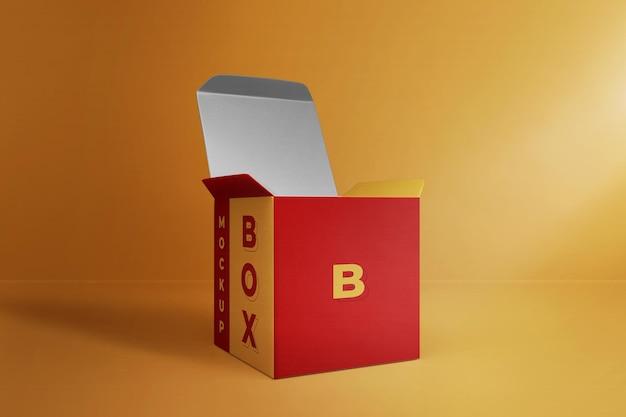 Modernes box mockup 3d-rendering