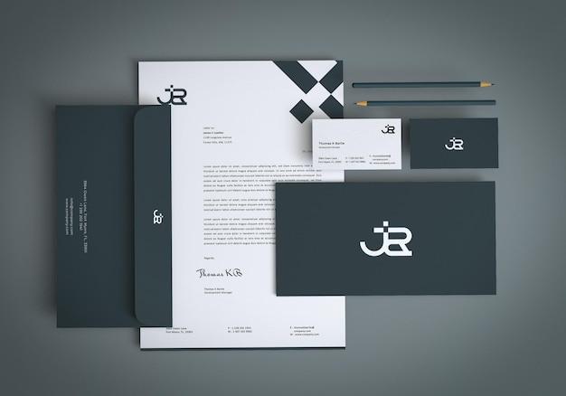 Modernes branding-briefpapier-mockup