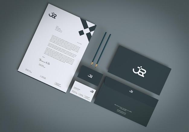 Modernes branding-briefpapier-set mockup-design Premium PSD