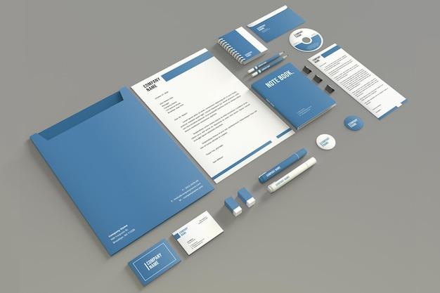 Modernes briefpapier mockup design isoliert