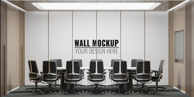 Modernes büro-besprechungsraum-wandmodell des innenraums
