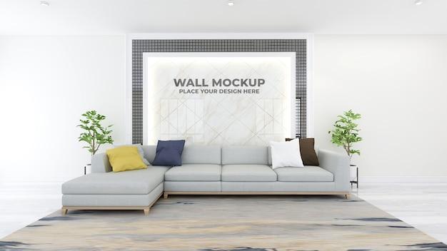 Modernes büro lobby wartezimmer wand logo modell