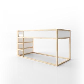 Modernes etagenbett design isoliert