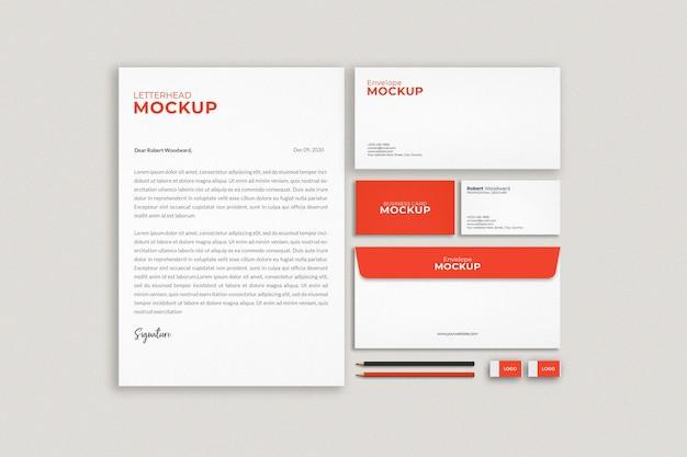 Modernes geschäftsbriefpapier-modelldesign
