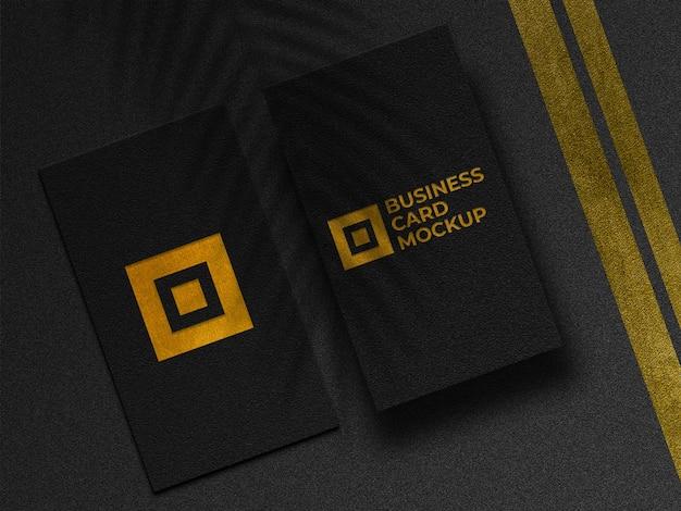 Modernes goldenes visitenkartenmodell