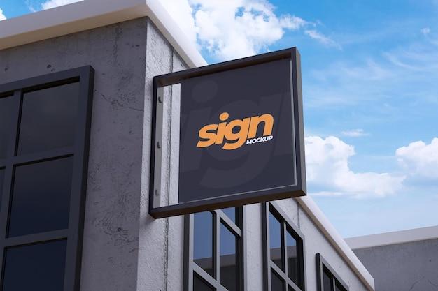 Modernes hängendes zeichen des logo-modells