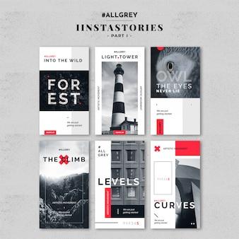 Modernes instagram story template kit