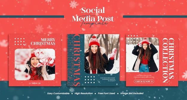 Modernes konzept urbane streetwear für frohe weihnachten und ein glückliches neues jahr verkauf mode social media instagram post oder flyer vorlage