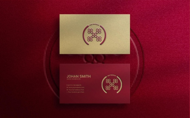 Modernes luxus-visitenkarten-logo-modell mit prägung