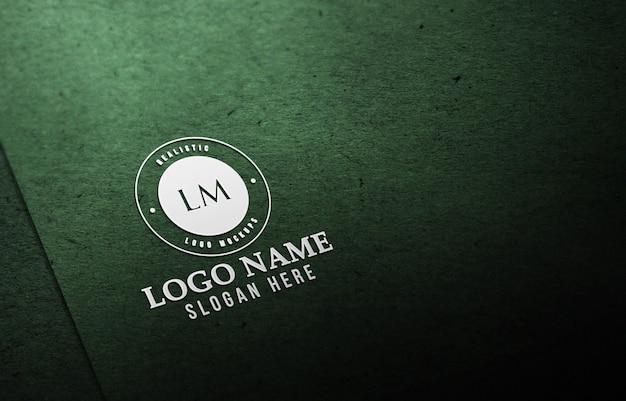 Modernes realistisches 3d-logo-modell