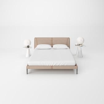 Modernes schlafzimmer interieur isoliert