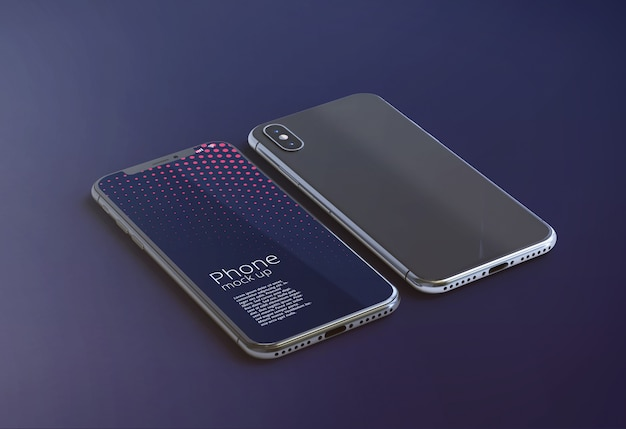 Modernes smartphone-bildschirmmodell