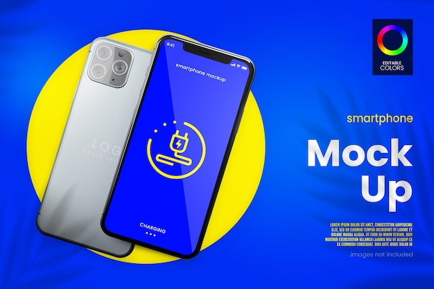 Modernes smartphone- und app-mockup-design