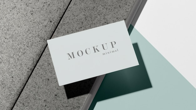 Modernes sortiment an mock-up-visitenkarten