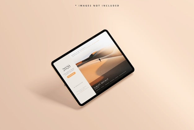 Modernes tablet-bildschirmmodell