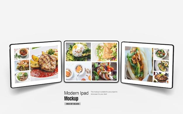 Modernes tablet-modell