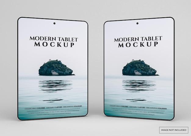 Modernes tablettenmodell isoliert